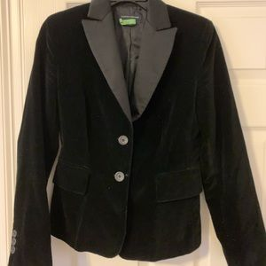 BANANA REPUBLIC Sz 4 Satin & Velour Jacket